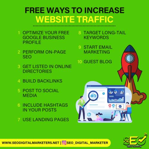 Free Ways to Increase Website Traffic