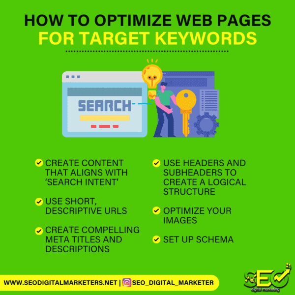 How to optimize web pages for target keywords